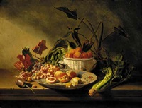 still life with fruits and vegetables by charles eugène david