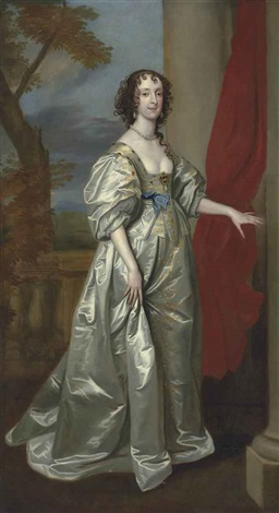 portrait of mrs thomas carey d 1678 later lady herbert by sir anthony van dyck