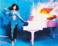 alicia keys burning piano, new york by david lachapelle
