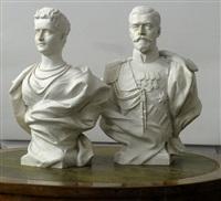 paire de bustes (pair) by leopold bernhard bernstamm