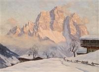 winterabend am monte pelmo (dolomiten) by erwin kettemann
