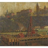 a view of harlem by aaron douglas