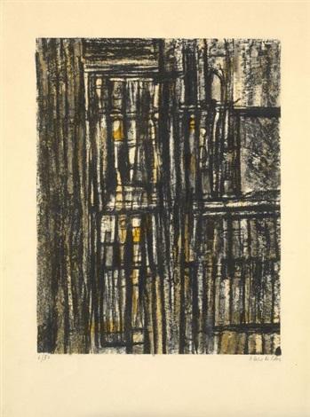 bibliothèque jaune et composition 2 works by maria helena vieira da silva