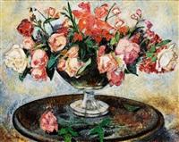 rosenstrauß mit orchideen und flieder by paul bürck