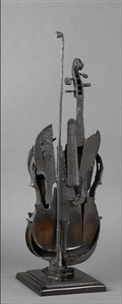 violon calciné by arman