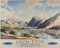 loch etive, british railways by jack merriott