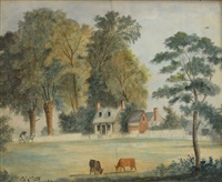 maryland plantation landscape by charles louis fleischmann