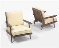 pair of armchairs by george nakashima