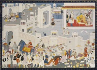 envoys come to pay homage to king dasaratha by anonymous-indian-garhwal (19)