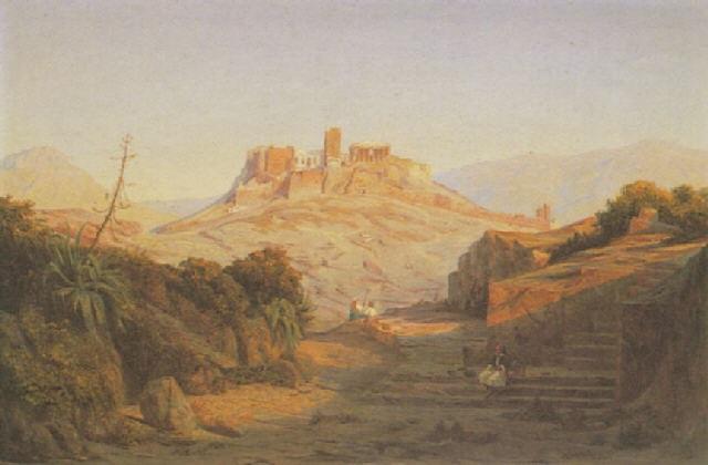 ansicht der akropolis by albert eichhorn