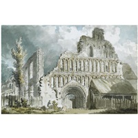 st. botolph's priory, colchester, essex by edward dayes