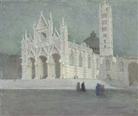 the cathedral, siena (+ florence; pair) by walter herbert allcott