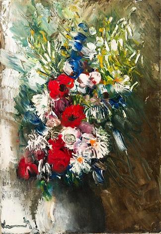 fleurs dans un vase by maurice de vlaminck