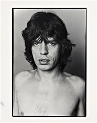 portrait of mick jagger by marcia resnick