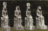 egyptian deities (pair) by sergey juhno yukno and vasily ivanovich mikropulo