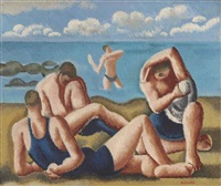 swimmers resting by william roberts
