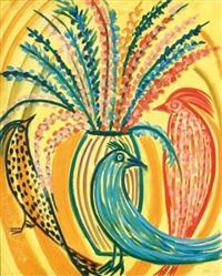 fleurs et oiseaux n°1 by roberta gonzales