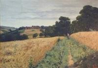champ de blé en dauphiné by jean-célestin-tancrède bastet