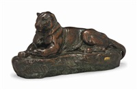 model of the panther of india by antoine-louis barye