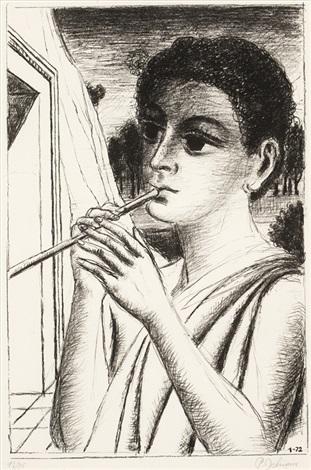 le joueur de flute by paul delvaux