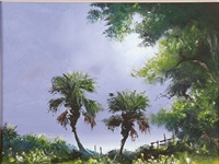 landscape with palms by harold newton