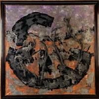 composición abstracta con ramas by juan sole