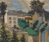 corner in tréboul by sir cedric lockwood morris