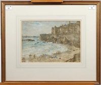 beach scene by montague smyth