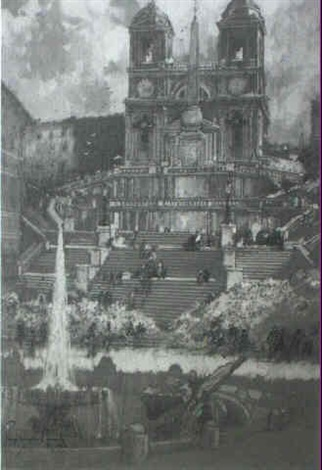 the spanish steps by george wharton edwards