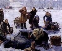 le lavoir improvisé by anatoly nikolaivich talalaev