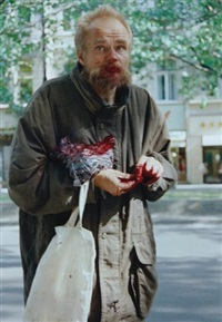 this man was standing there by boris mikhailov