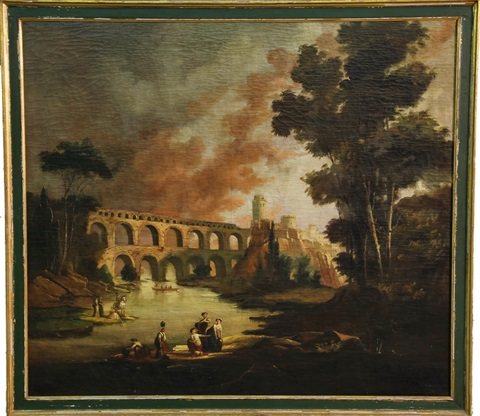 pont du gard near nimes france by hubert robert