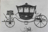 a presentation drawing of a state coach by philip godsall
