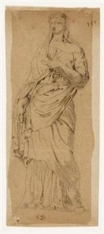 eine römische skulptur (study) by pierre andrieu