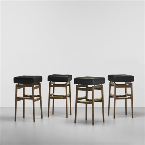 Exceptional Bar Stools (set Of 4) By Gianfranco Frattini And Gio Ponti