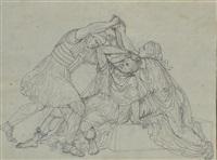l'assalto; scena romana; la caccia (3 works) by gaetano forte