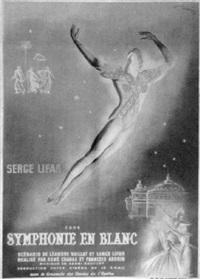 serge lifar - symphonie en blanc by posters: dance