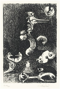 sutherland sketchbook (t. 139) (portfolio of 2 bks and 1 work) by graham sutherland