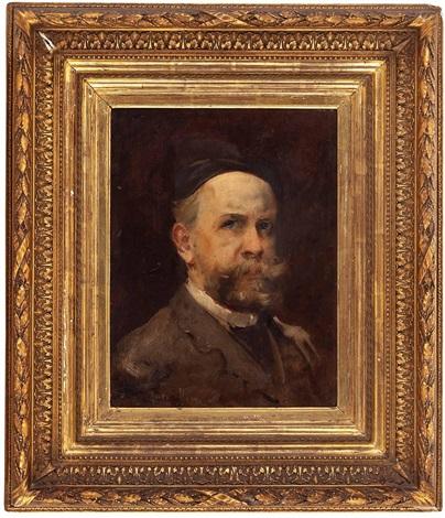 portrait eines herrn orientalische szene tanger verso by harry humphrey moore