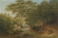 a running brook by thomas addison richards