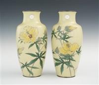 vases (pair) by hattori tadasaburo
