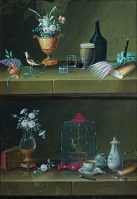 nature morte aux oiseaux (pair) by lelong