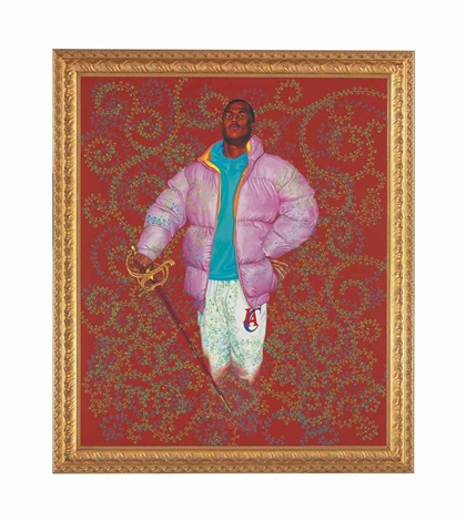 untitled (red) by kehinde wiley