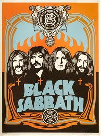 black sabbath (orange edition) by shepard fairey