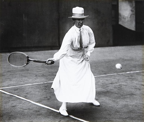 untitled tennis player by jacques henri lartigue