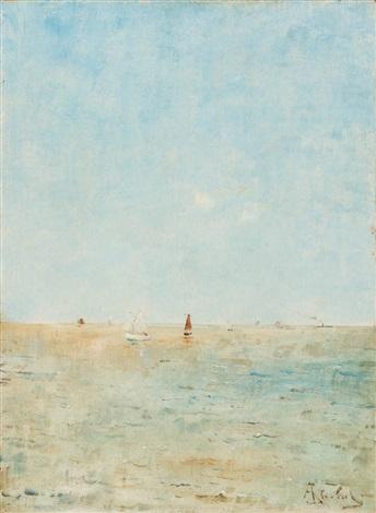 segelboote auf offenem meer by alfred stevens