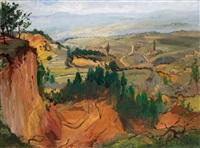 paysage du sud de la france by constantine kluge