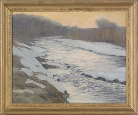 winter landscape by edward willis redfield