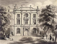nassau house, orange grove (prince of orange house) (+ 2 others, smllr; 3 works) by henry venn lansdown
