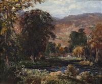 lake landscape by vladimir pavlosky
